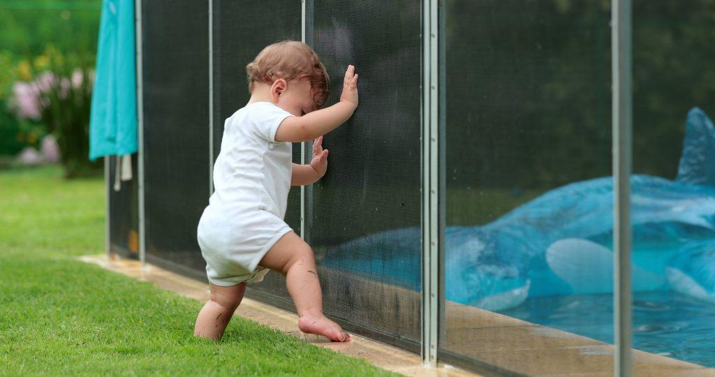 Barrière de protection de piscine pour enfants